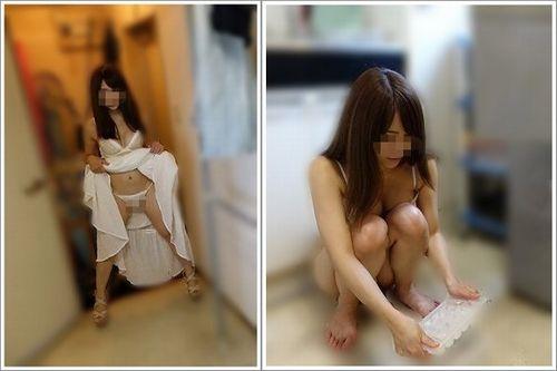 初対面の男を自宅に招き入れ下着を見せる変態女
